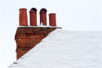 Chimney Pots In The Snow